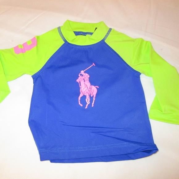 Ralph Lauren Girls Big Pony Rash Guard
